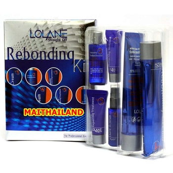 Hair Straightening Cream LOLANE Rebonding Kit Straight Off Permanent Hair Straightening Cream