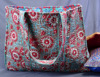 Hand Block Printed Cotton Beach Bag Quilted Large Gypsy Tote Purse Bohemian Carry shoulder bag
