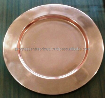 Copper Antique Finish Metal Charger Plate Wholesale Buy Gold