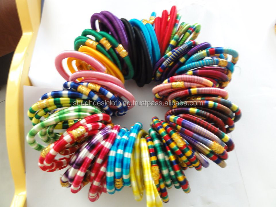 Beautiful Colorful Wrapped Bangle Silk Thread Bangles In Usa - Buy ...