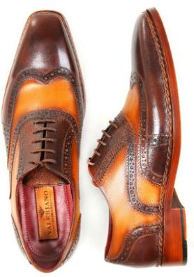 Brown Oxford Handmade leather shoes