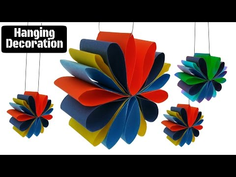 Craft Design 3 : Hanging Paper Decoration for Diwali / Christmas / Eid  festivals and parties