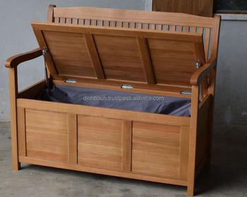 Home Garden Outdoor Furniture Fsc Eucalyptus Wood Cushion Bench Made In Vietnam