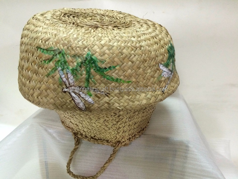 Hottest Selling Natural Seagrass Belly Basket Handmade By ...