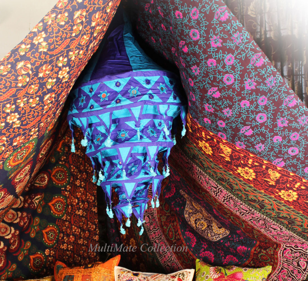 Yellow indian fabric lamp shades wall garden lantern embroidered yellow indian fabric lamp shades wall garden lantern embroidered ethnic lamp shade hanging mozeypictures Images