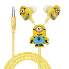 200pcs/lot Despicable Me Minions Cartoon Cute In-ear Earphone 3.5 mm Jack Headphone Headset for Mobile Phone MP3 CD Player iPod