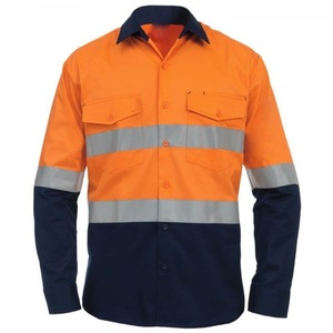 HIVIS COTTON DRILL SHIRT - SAFETY WORKWEAR