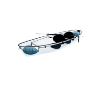 Crystal Clear Transparent Kayak for Two for Sightseeing Fishing Touring Blue Water Sport with Free Shipping to Most Locations