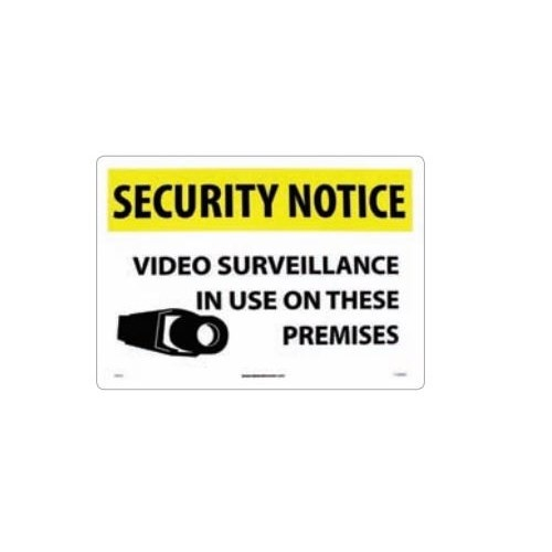 "National Safety Compliance SN20RC, 20""x14"" ""Security Notice Video Surveillance"" Rigid Plastic Sign"