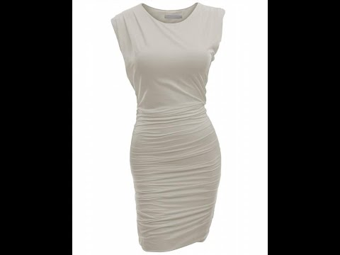Doublju Women Classic Slim Fit Sleeveless Sexy Bodycon Dress