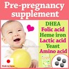 Natural pre pregnancy supplement ( DHEA Diosgenin + Folic acid ) made in Japan , pregnancy test , probiotics also available