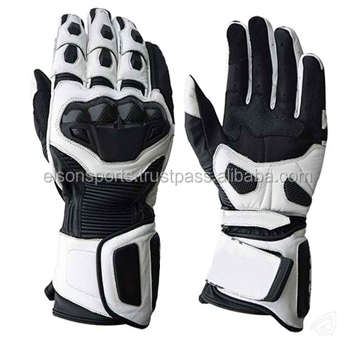 RIDING MOTORCYCLE LEATHER GLOVES / Motorbike Racing Gloves