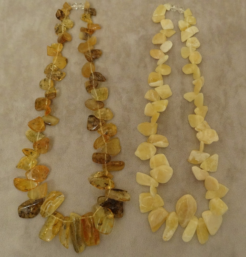 White Baltic Amber necklaces from Ukraine 100% natural