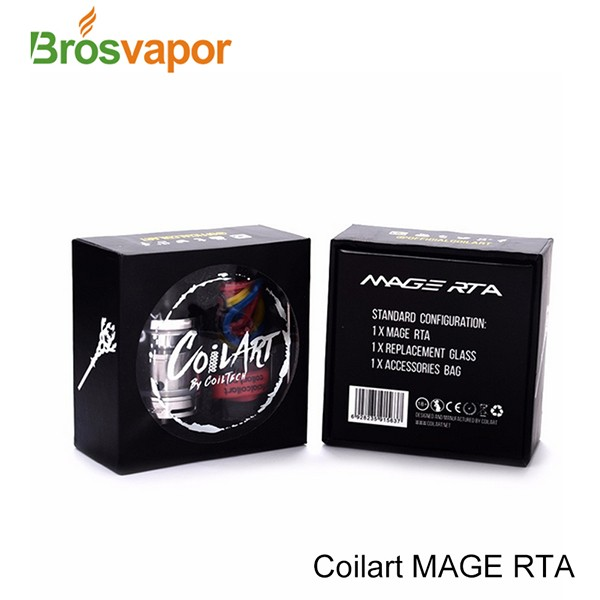 Coil Art MAGE RTA Tank Coilart Mega RTA 3.5ml Capacity 24mm 100% Original by CoilTech