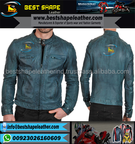 Men 100% pure sheep skin/New style fashion men leather jacket/Pakistan New