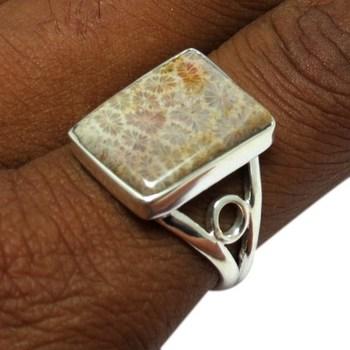 6eab78244629 Elegante Baguette forma fósiles anillo de Plata de Ley 925 Plata joyería de  plata exportador