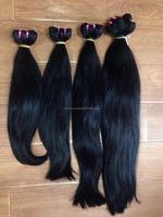 Natural Color human hair virgin no chemical no lice silky straight weave human hair