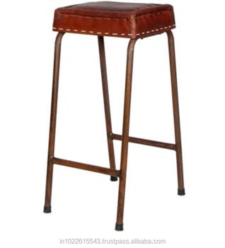 Terrific Industrial Metal Bar Stools With Leather Seat Vintage Rustic Metal Bar Stool Buy Antique Metal Industrial Bar Stools Cheap Metal Bar Stools Genuine Inzonedesignstudio Interior Chair Design Inzonedesignstudiocom