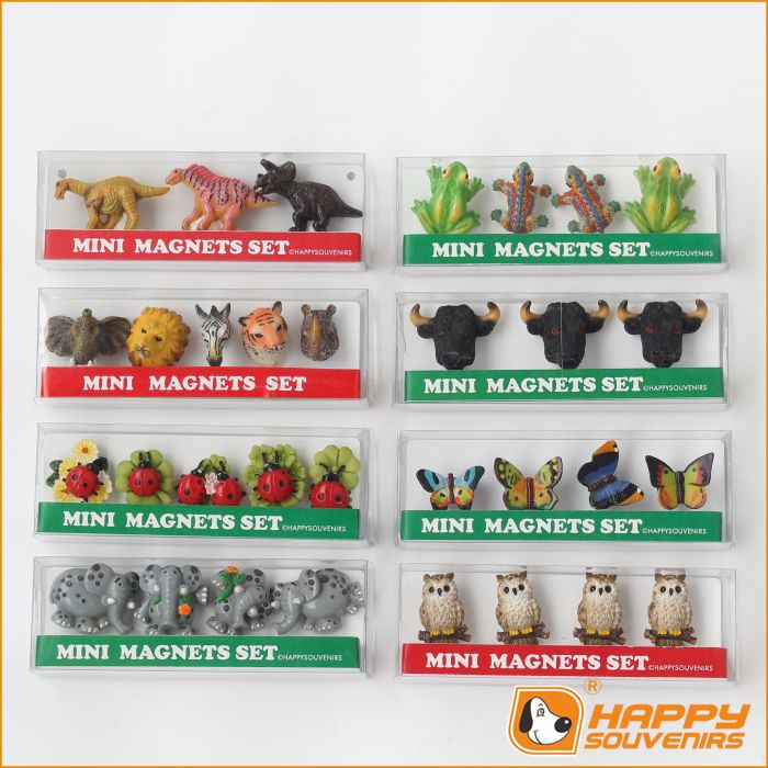 Fridge magnet in kitchenware and teddy bear shaped custom 3D mini set wholesale