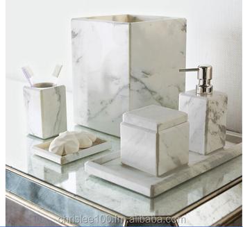 Bathroom Accessories Set Soap Dispenser Dish Tissue Box Towel Rack