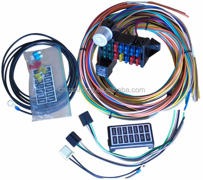 14 circuit fuse box universal wire harness kits muscle car hot rod street rod xl wires buy 14 circuit wire harness,fuse box wire harness,muscle car car gauge kits car wiring harness kits #5