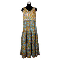 Online Shopping Hand Block Printed Indian Cotton Tunics/New Designer Indian Long Kurti