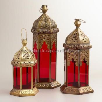Moroccan Garden Lantern Moroccan Home Decor Indoor Glass Lantern