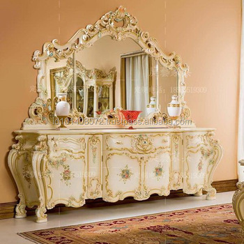 Mahogany Buffet With Mirrored Dresser Minerva Style Bedroom Furniture