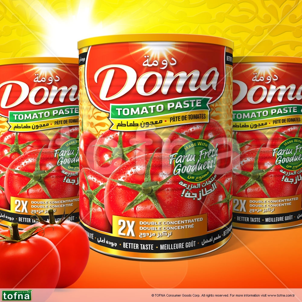Doma Purest Tomato Paste, 100% without additives, Turkish production