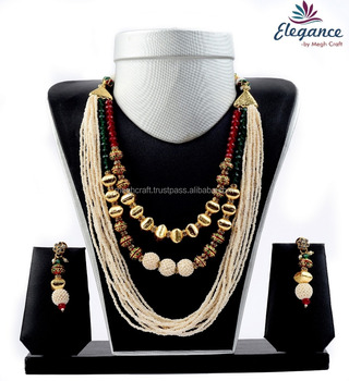 0e2824426dc97 Handmade Beaded Pearl Necklace Set - Pearl One Gram Gold Plated Jewelry -  Imitation Jewelry - Buy Hyderabad Pearl Set,Imitation Handmade Jewellery ...