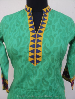 Stand Collar Designs For Kurti : New design woolen kurti velvet kurti india jaipur made
