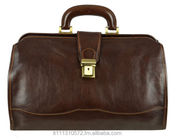 Dark Brown Leather Doctor Bag Large Medical Full Grain