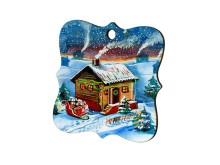 Custom Made Personalized Blank Sublimation MDF Wood Christmas Ornament