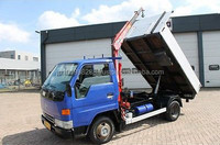 USED TRUCKS - TOYOTA DYNA 150 FLAT BED WITH MOUNTED CRANE (LHD 4645)