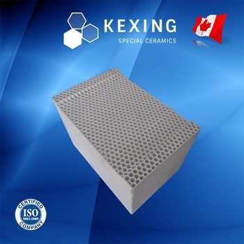Compound of Cordierite and Mullite Honeycomb ceramic substrate for RTO RCO
