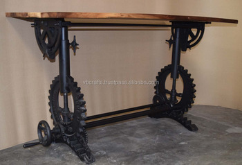Pleasing Industrial Draft Crank Gear Base Restaurant Table Recycled Wood Top Buy Long Restaurant Tables Wood Industrial Crank Adjustable Table Crank Drafting Alphanode Cool Chair Designs And Ideas Alphanodeonline