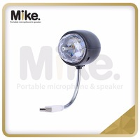 WOWTOU Disco Ball Lamp, Rotating RGB Colored LED Stage Lighting Party Bulb with 3W Book Light