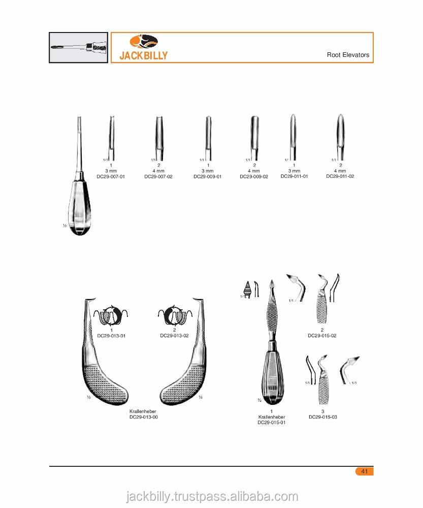 Dental Elevators,Krallenheber,Dental Instruments Names,Dental Surgical  Instruments - Buy Names Of Dental Instruments,Dental Instruments   pdf,Pakistan
