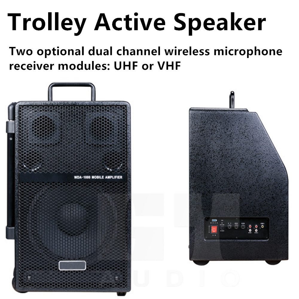 wireless bass active trolley self powered outdoor guitar amplifier speaker