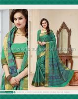 Soigne Green Cotton Saree/indian bridal sarees online shopping