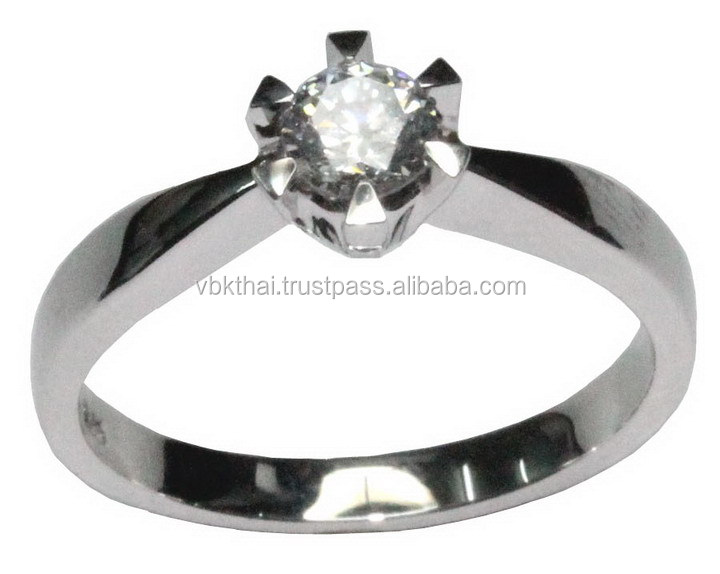 Diamond / CZ Jewelry Rings for Engagment Wedding and Promise With Gold, Sterling Silver, Rhodium with Different Surfaces