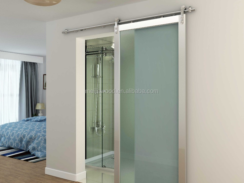 washroom door glazed pine wood doors with stainless steel parts & Washroom Door Glazed Pine Wood Doors With Stainless Steel Parts ...