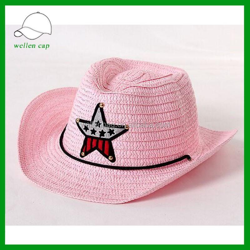 bac6d2d7ff42b Cheap Summer Bulk Child Paper Straw Hat Wholesale Kids Cowboy Hat ...