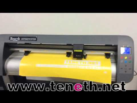 How to install Teneth cutting plotter blade into blade holder