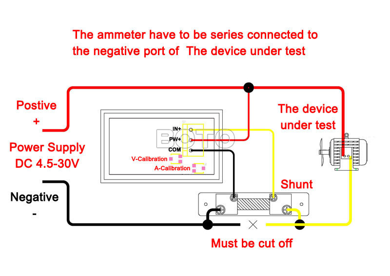 volt amp meter wiring diagram: wholesale-digital voltmeter/ammeter gauge  2in1 dc 4 5