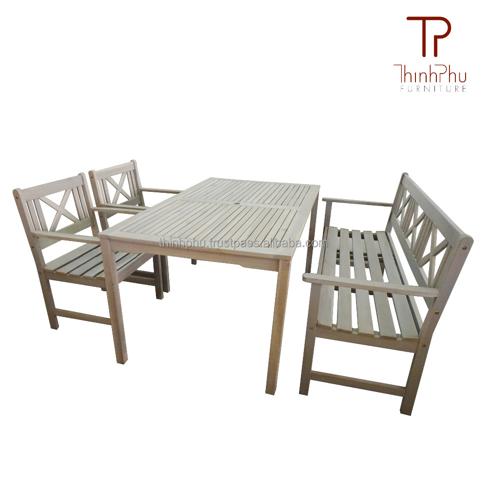 Excelie acacia outdoor dining set vietnam outdoor furniture