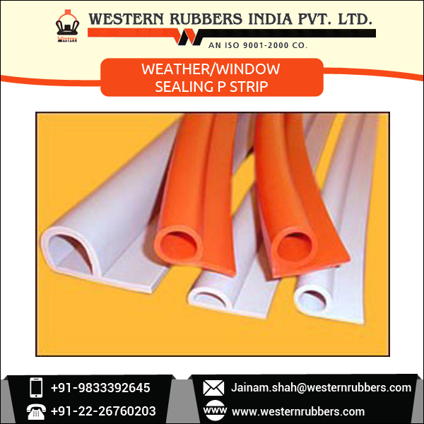 Durable Long Lasting Quality Weather/Window Sealing P Strip at Low Rate