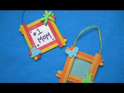 Get Quotations Art Amp Craft Make Photo Frame From Ice Cream Sticks