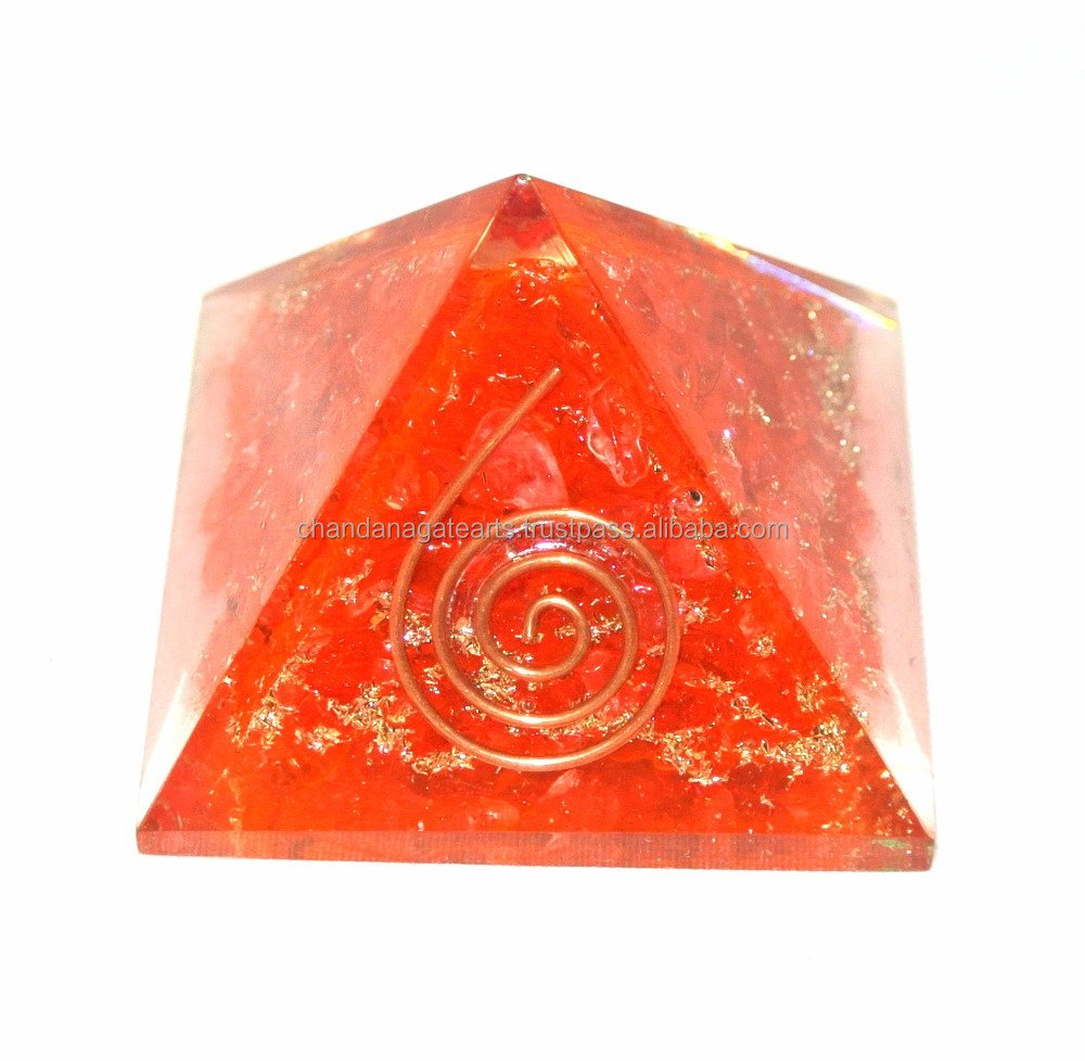 Red Orgone Crystal Dye Energy Pyramid : Wholesale Orgonite Pyramid