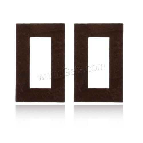 2017 New wooden Stud Earring stainless steel post pin Rectangle original unplated color 19x30mm 1088269